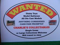 Wanted ModelRailways, Die Cast Models The Older The Better Cash Paid Large Collections Welcome