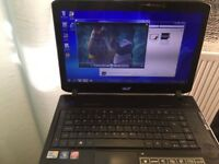Acer Aspire laptop worth £300 ! 320GB wifi Blue ray player