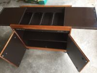 Philips hostess executive trolly cabinet, in immaculate working condition