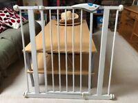 Pair of Lindam metal, adjustable stair gates
