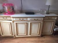 Cream and gold sideboard stunning solid wood