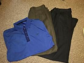 Mens dunlop golf clothes trousers top