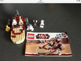 Star Wars Lego. Excellent condition, all pieces checked and instructions included. No boxes
