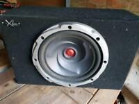 Kenwood sub amp and box