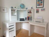 Ikea Corner Workstation Side Desk and Drawers