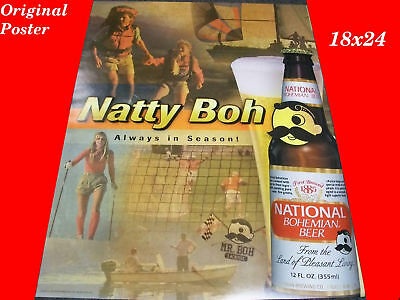 NATTY BOH NATIONAL BOHEMIAN 18X24 PROMO POSTER
