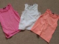 3 girls vest tops