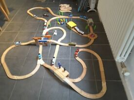 Wooden Thomas and Friends Track, bridges, tunnels and trains