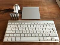 Apple keyboard, Trackpad, Battery Charger and 4 x Re-Chargeable Batteries *Excellent Condition*