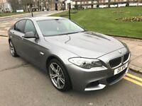 10 REG BMW 520D M SPORT NEW SHAPE GREY AUTO LEATHER LOW MILES XENONS NOT 525D 530D 535D E220 E250 X5