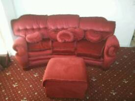 Three seater and two one seater sofas