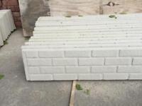 Brick effect concrete fence boards (gravel boards)