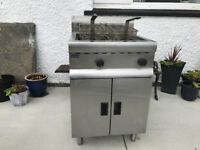 Lincat J/10n mains gas twin tank fryer