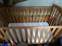 COT AND BARELY USED MATTRESS