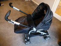 Mamas and Papas Pliko Pramette P3 convertible folding pushchair/pram vgc