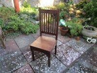 WOODEN DINING CHAIRS X 6