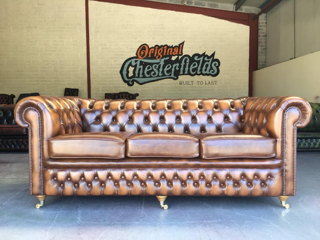 Brand NEW Ex Display Chesterfield Tan 3 Seater Sofa in Belfast City Centre, Belfast Gumtree