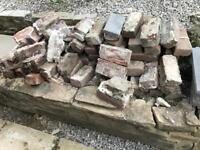 Red engineering bricks, stone, rubble etc *ALL FOR FREE*