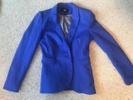 Mid blue H&M blazer, nearly new