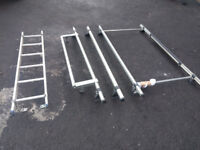 Rhino Roof Rack Bars and Ladder fit Vauxhall Vivaro Renault Trafic