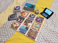 New Nintendo 2DS XL Blue & Black with 9 games, like new. Pokemon, Zelda,