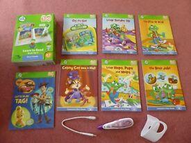 Excellent Leapfrog Tag Reader Pen & set of Short Vowel Books - suits 3-7 years