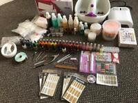 Nail/ mana cure pedicure acrylics set up