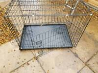 For sale large dog crate with tray