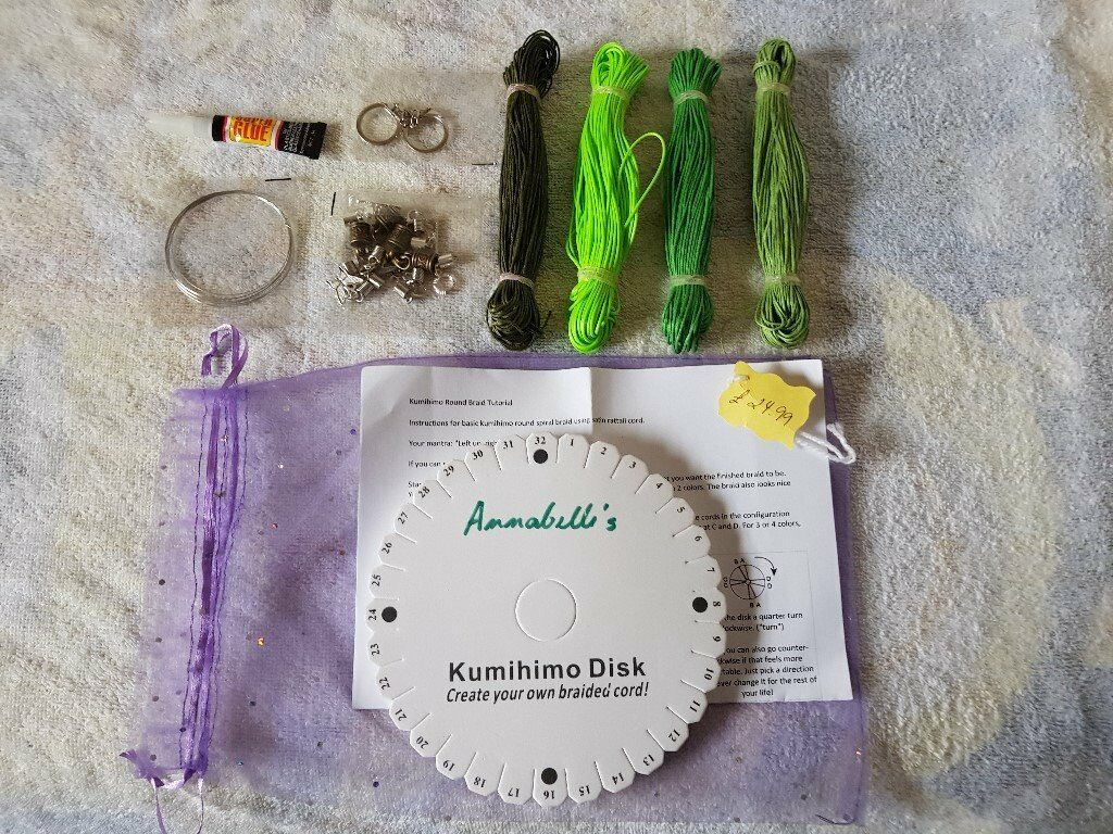 Kumihimo braiding starter kits - including disk, cord, fastenings,  instructions  | in Ipswich, Suffolk | Gumtree