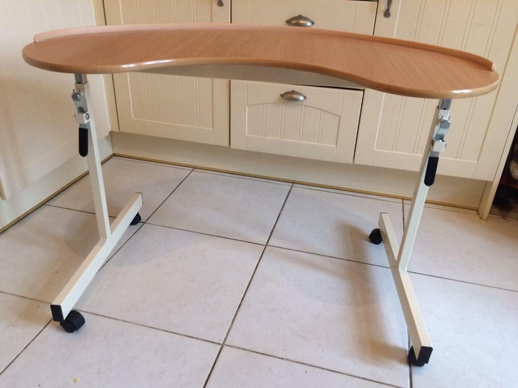Over Chair Table Kidney Shaped