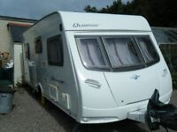 Lunar Quasar EB 2008 fixed bed 4 berth caravan with motor mover