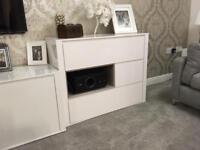 White gloss next lounge furniture tv stand