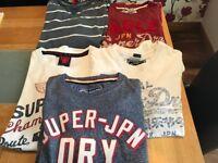 mens small superdry teeshirts and tops