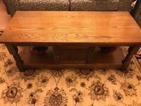 Old Charm long john coffee table/ tv stand- light oak.