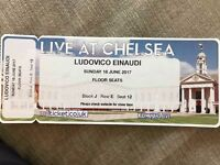 3X Ludovico Einaudi tickets at face value!