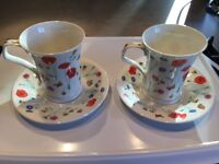 Pair of Dunoon Cups & Saucers