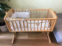 Rocking cradle cot