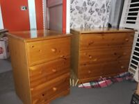 Chest of drawers and cabinet