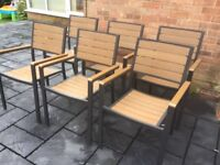 Set Of Six, PollyWood Stackable Garden Chairs, New / Unused
