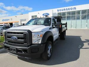 2016 Ford F-550 CHASSIS CAB XL INCLUDES DUMP BOX  6.7L  POWER ST
