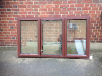 Rosewood upvc window with two end openings