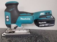 NO OFFERS..MAKITA DJV181 18V Cordless Li-Ion BRUSHLESS JIGSAW body & 4ah battery only,as new