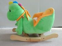 Rocking dinosaur for 1-3 year old