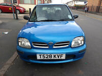 Micra For Sale, 1 Ltr, Manual, 1999, 67k, 5 Dr, Brand New Battery, Good Condition