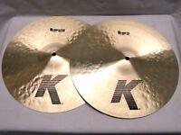 """k zildjian 14"""" hi hat cymbals new"""