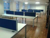82 - POSITIONS OF BRAND NEW CALL CENTRE BENCH DESKING - 900MM X 700MM - 10 YEAR GUARANTEE