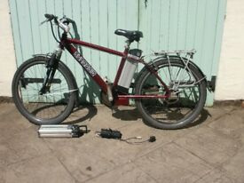 Electric bike,aluminium frame and new lithium ion battery