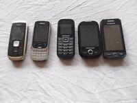 5 mobile phones