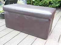 Faux leather blanket box/chest: Good condition-Perfect for storage