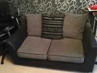 Double pull out sofa bed black and silver